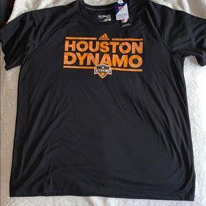 NWT Adidas Houston Dynamo black 2x tshirt